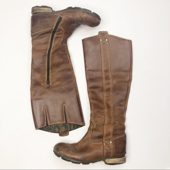 Fly London Shoes - Fly London Tall Brown Leather Boots